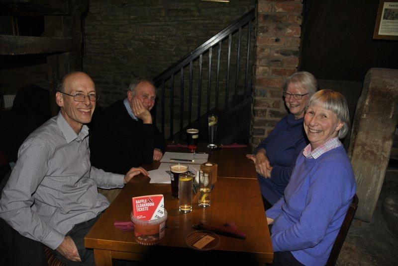 Family Quiz and Supper at the Baron - Our regular visiting quiz team