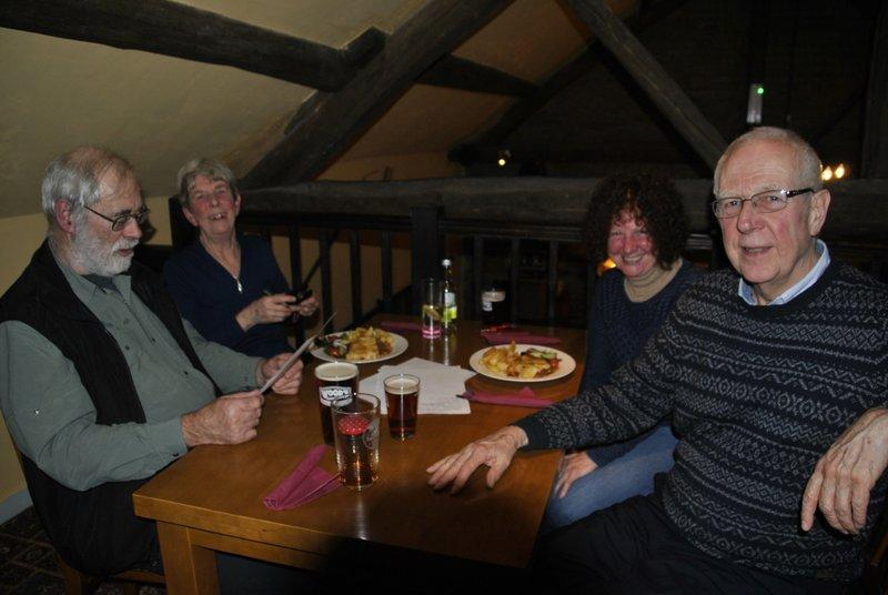 Family Quiz and Supper at the Baron - Clive, Joan and friends