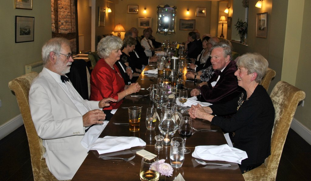 Presidents Night at the Lion in Leintwardine - Chatting 5