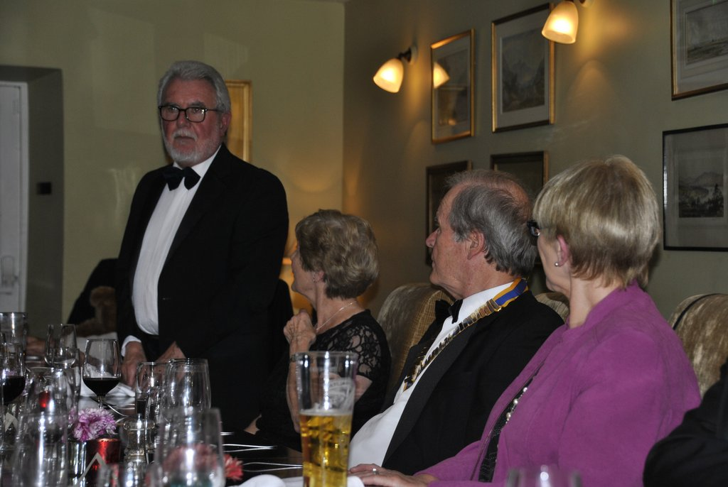 Presidents Night at the Lion in Leintwardine - Howard welcoming the entertainers