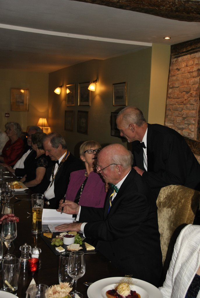 Presidents Night at the Lion in Leintwardine - Chatting 6