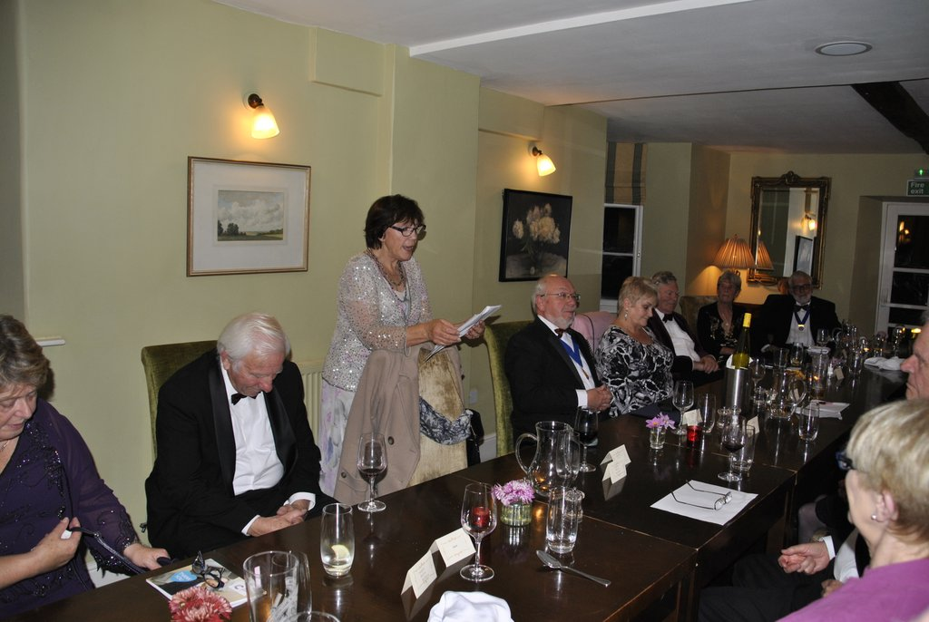 Presidents Night at the Lion in Leintwardine - The winning poem from Dorothy
