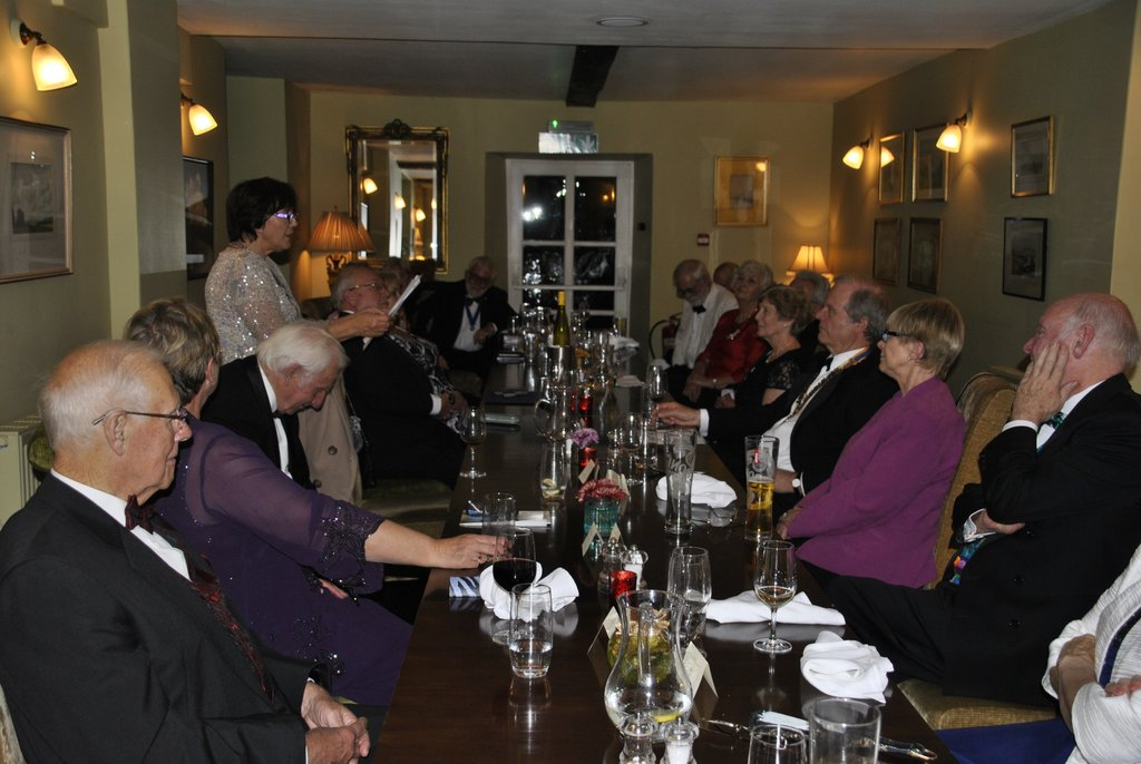 Presidents Night at the Lion in Leintwardine - Listening intently