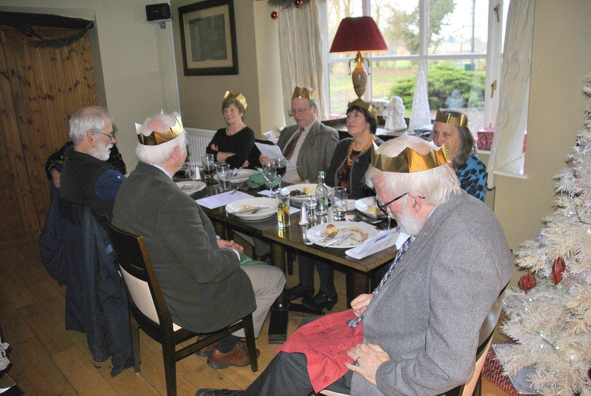 Golfing Rotarians Christmas lunch Portway, Staunton - Patrick tells a few jokes