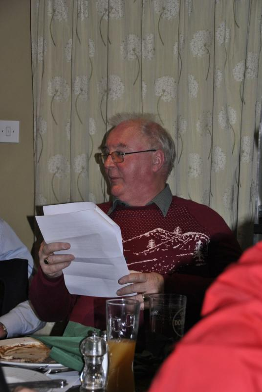 Golfing Rotarians Christmas lunch Portway, Staunton - Paul and the advantages of golfing