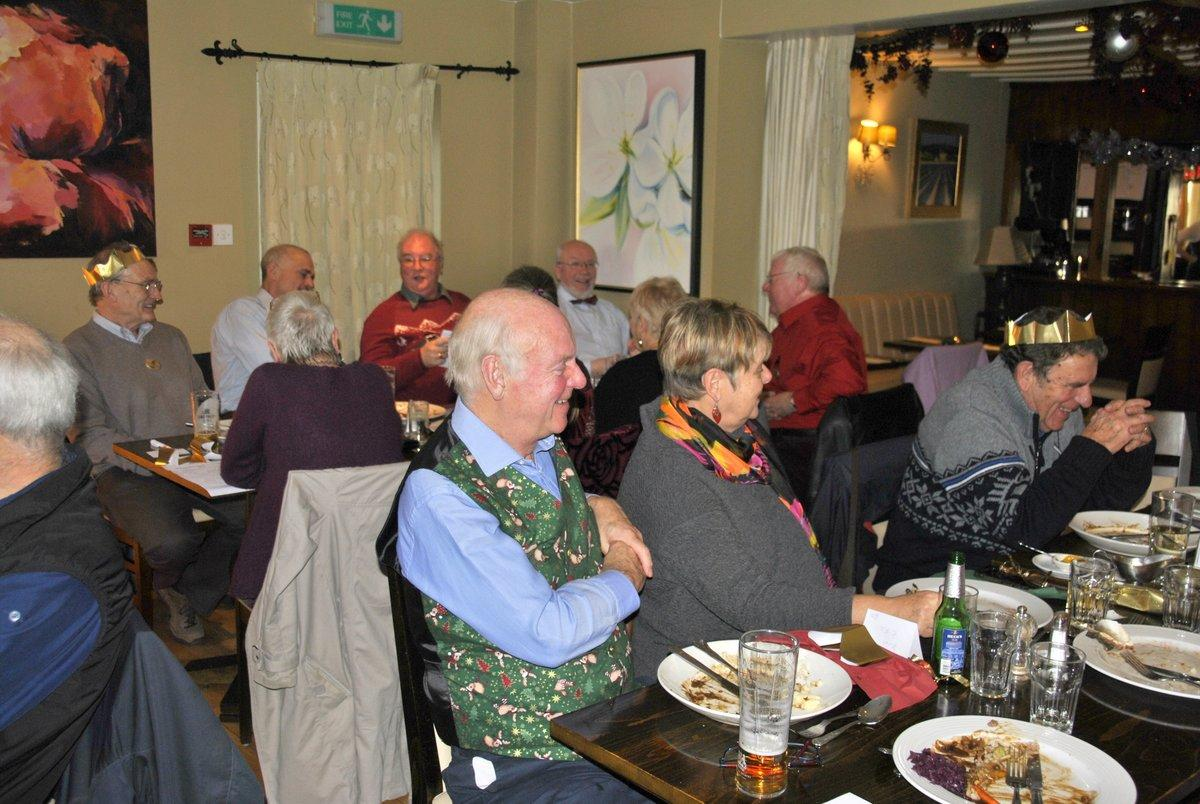 Golfing Rotarians Christmas lunch Portway, Staunton - Enjoying the humour