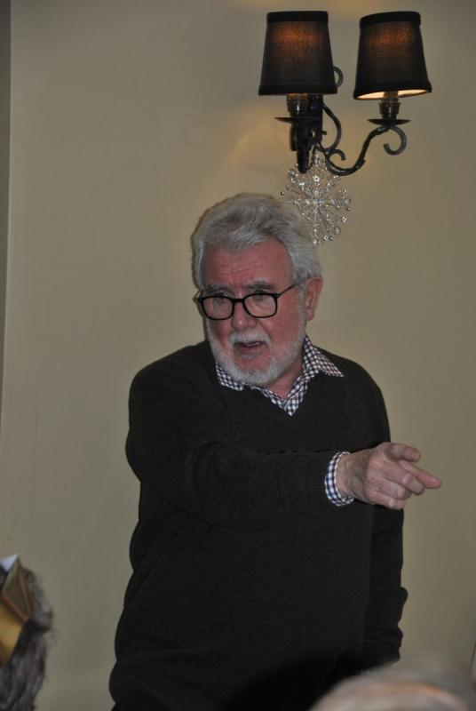 Golfing Rotarians Christmas lunch Portway, Staunton - Howard tells a shaggy dog story