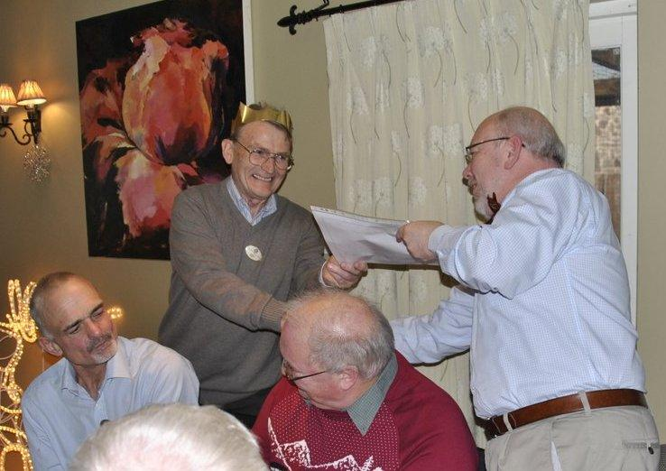 Golfing Rotarians Christmas lunch Portway, Staunton - Norman