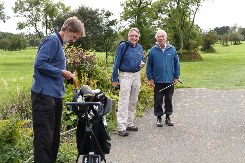 Golfer - Non-Golfer Competition, September 2016 - Peter, Geoff and Malcolm before Battle Commenced