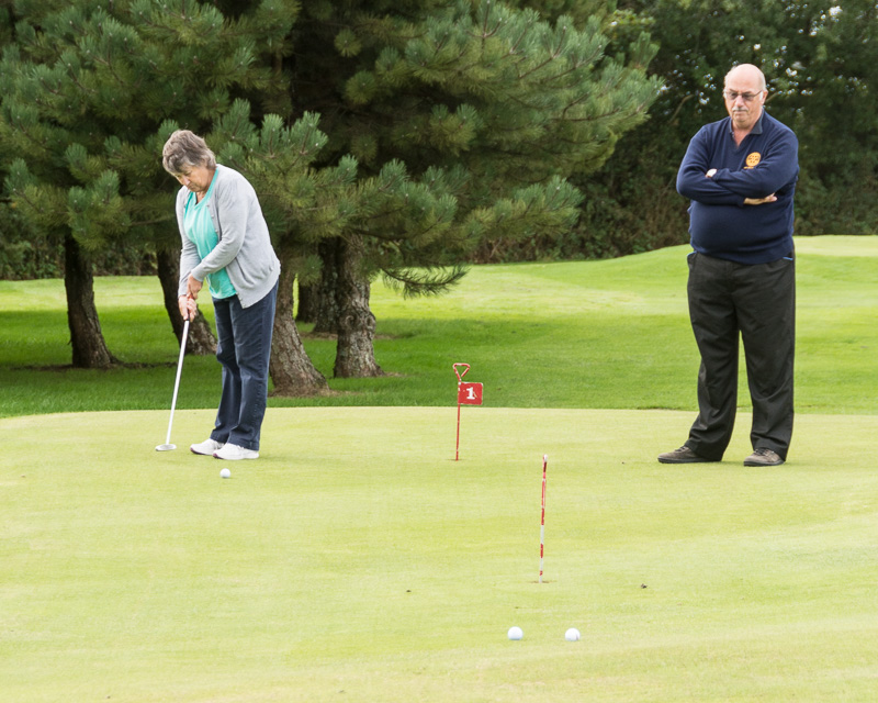 Golfer - Non-Golfer Competition, September 2016 - Is this Practising?