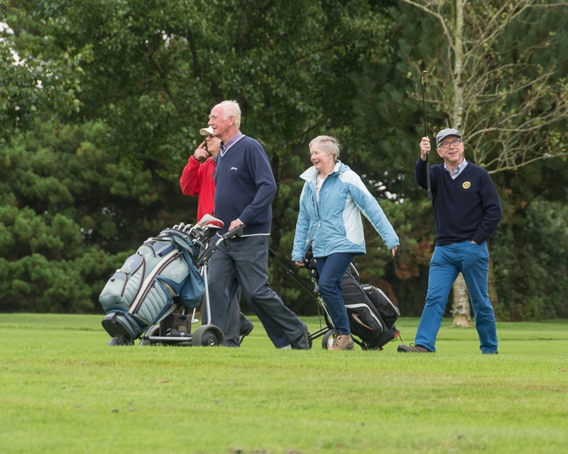 Golfer - Non-Golfer Competition, September 2016 - David, John, Pam and Gareth