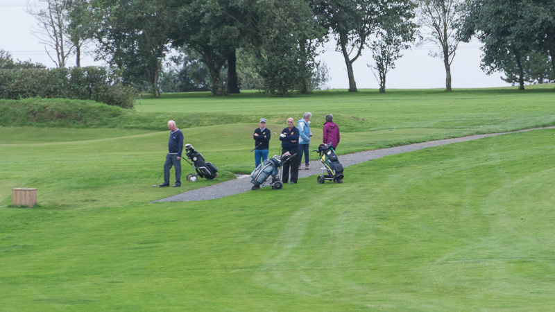 Golfer - Non-Golfer Competition, September 2016 - John, Gareth, Graham, Pat and Pauline