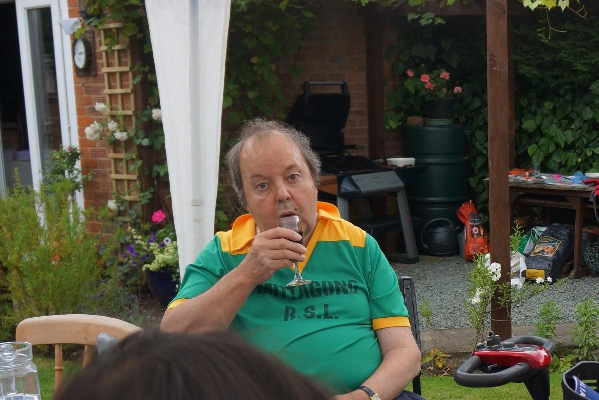 Pinner Rotary Summer Barbecue - Steady on Dennis!