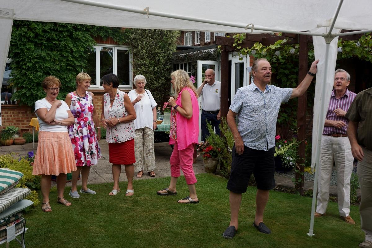 Pinner Rotary Summer Barbecue - How many Rotarians does it take to take down a gazebo?