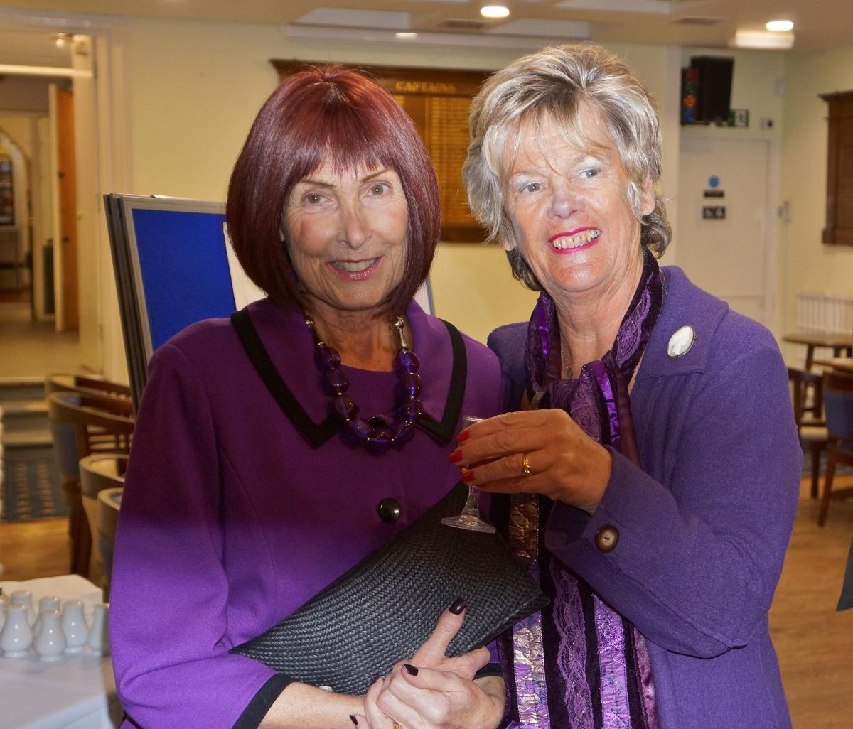 Burns Night at Pinner Hill Golf Club - And there was purple ....