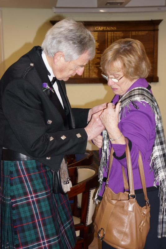 Burns Night at Pinner Hill Golf Club - The crocus buttonholes added even more colour