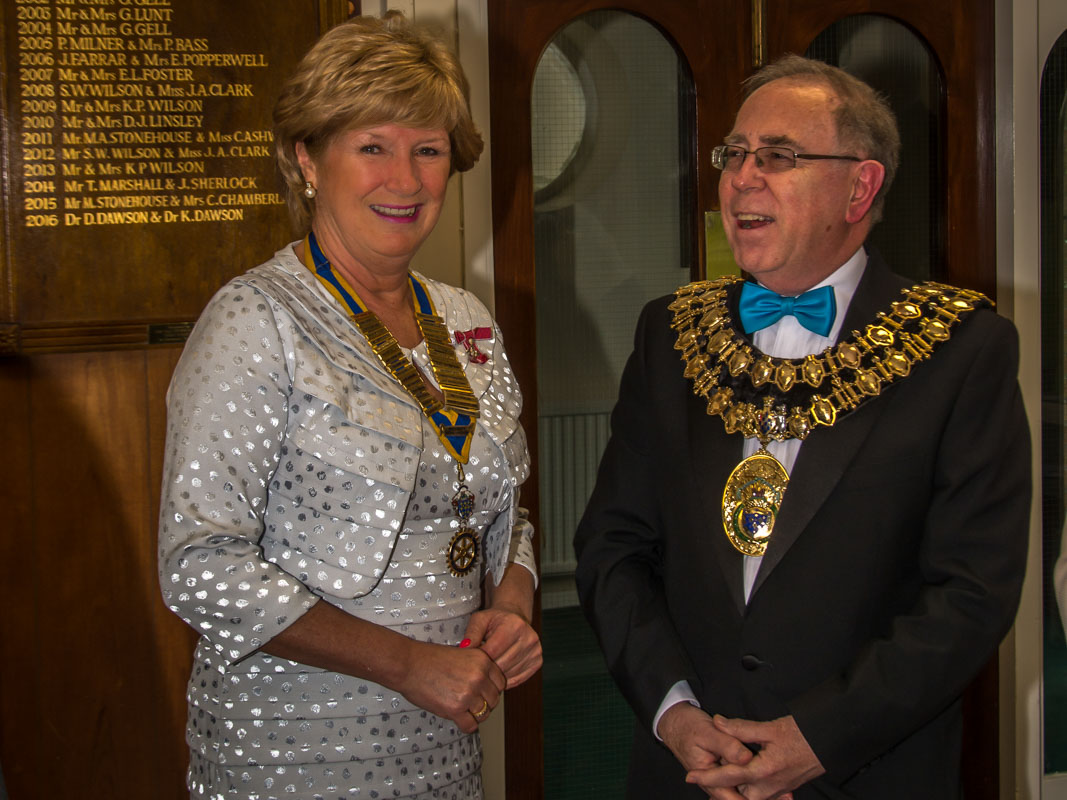 The Rotary Foundation centenary celebration. - President Bernadette and The Mayor of Stockport, Councillor Chris Gordon.
