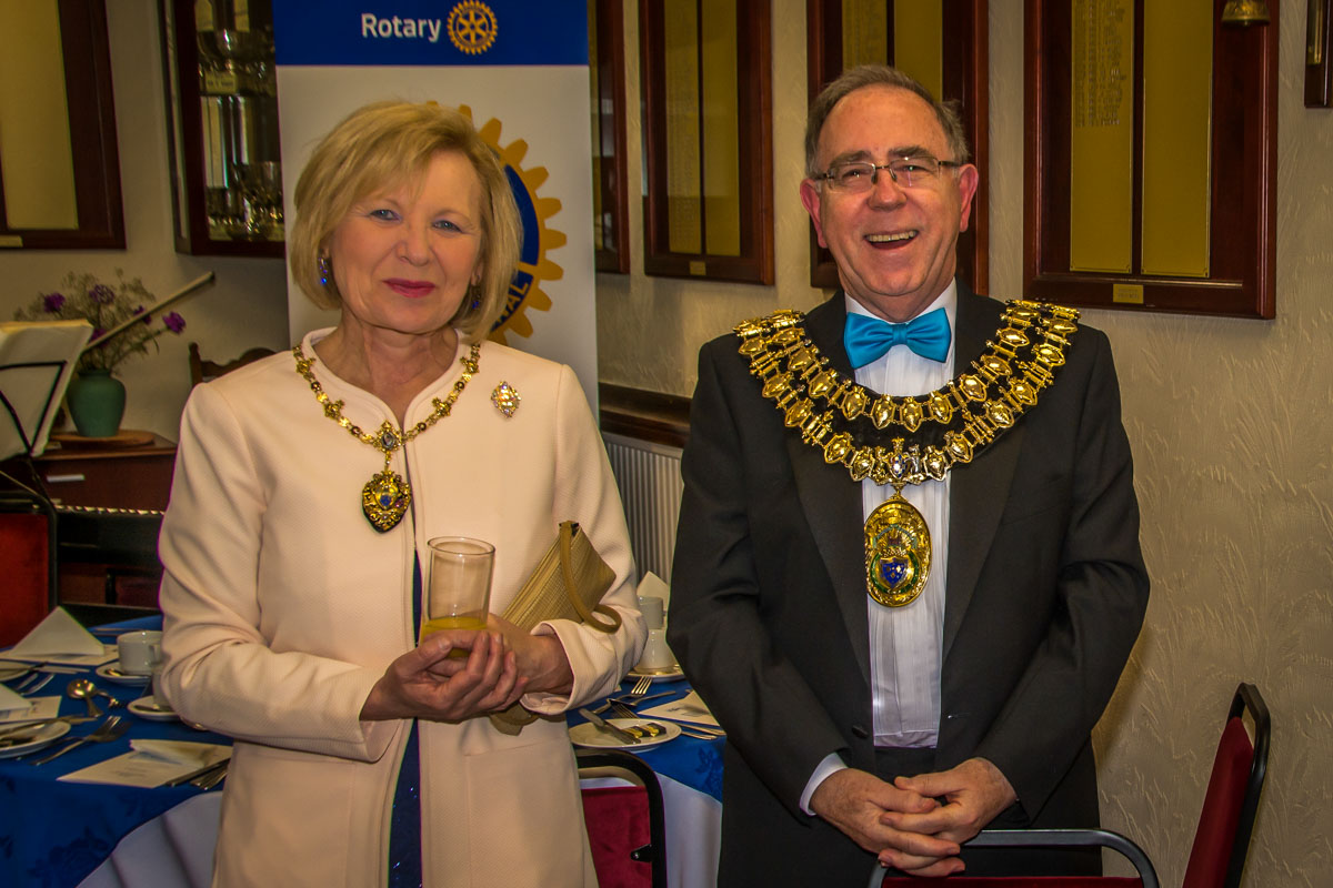 The Rotary Foundation centenary celebration. - The Mayor and Mayoress of Stockport, Councillor Chris Gordon and Dr Margaret Gordon.