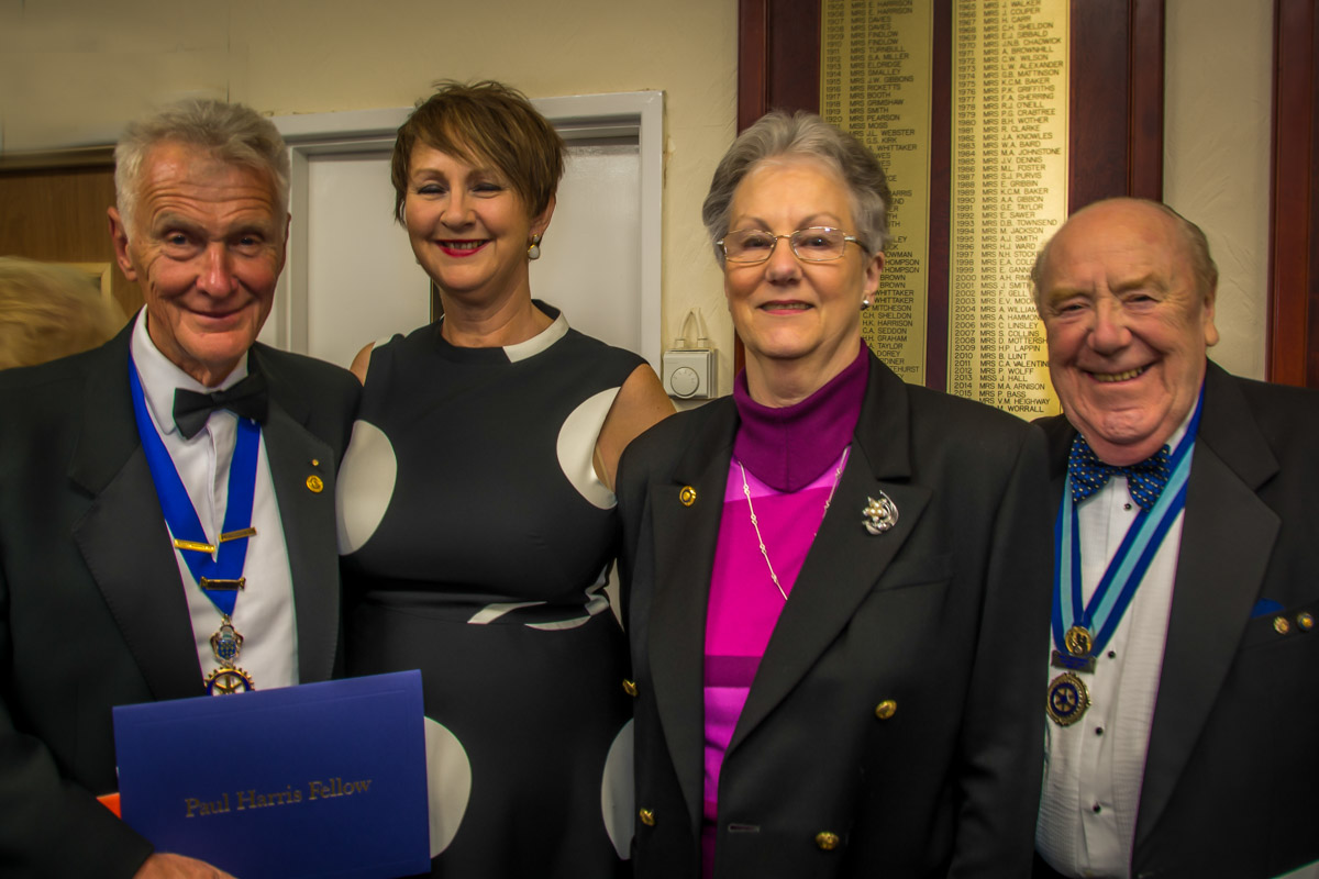 The Rotary Foundation centenary celebration. - Richard and Jane with Elizabeth and Ken.