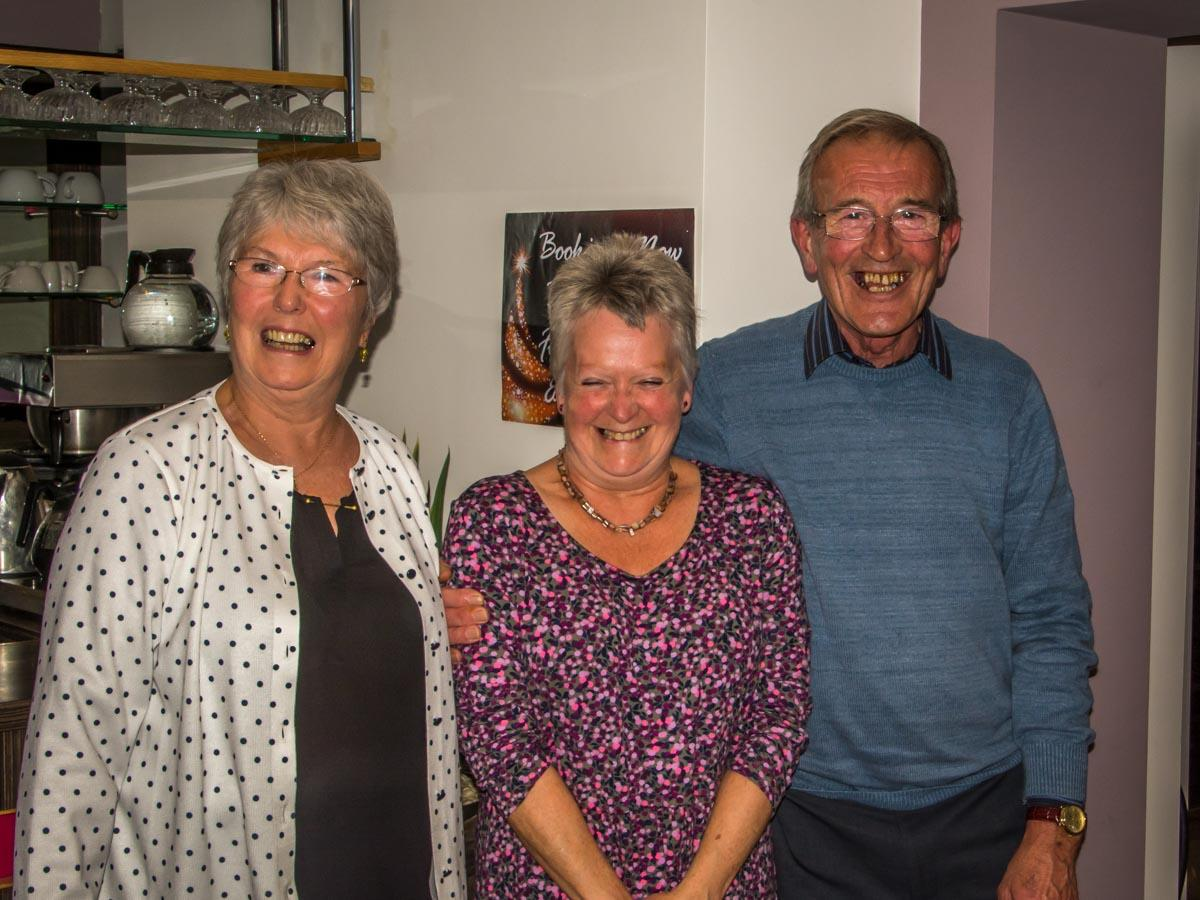 Curry Night at the Spice Tower - Great to see Liz Sears there from Norwood House, and to present a cheque to help finish off the decorating that we've been doing there.