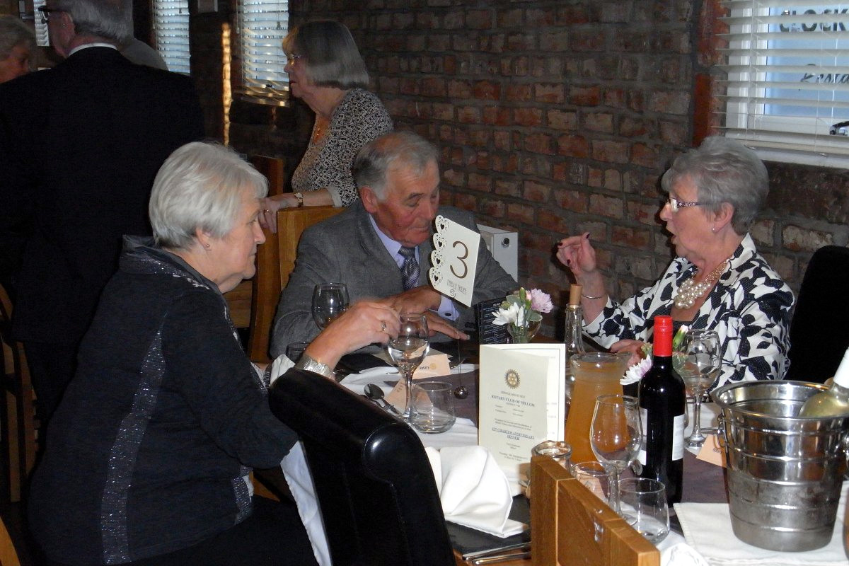 Millom Club Charter Dinner 2017 - Listen Bryan, Nadine's talking to you,