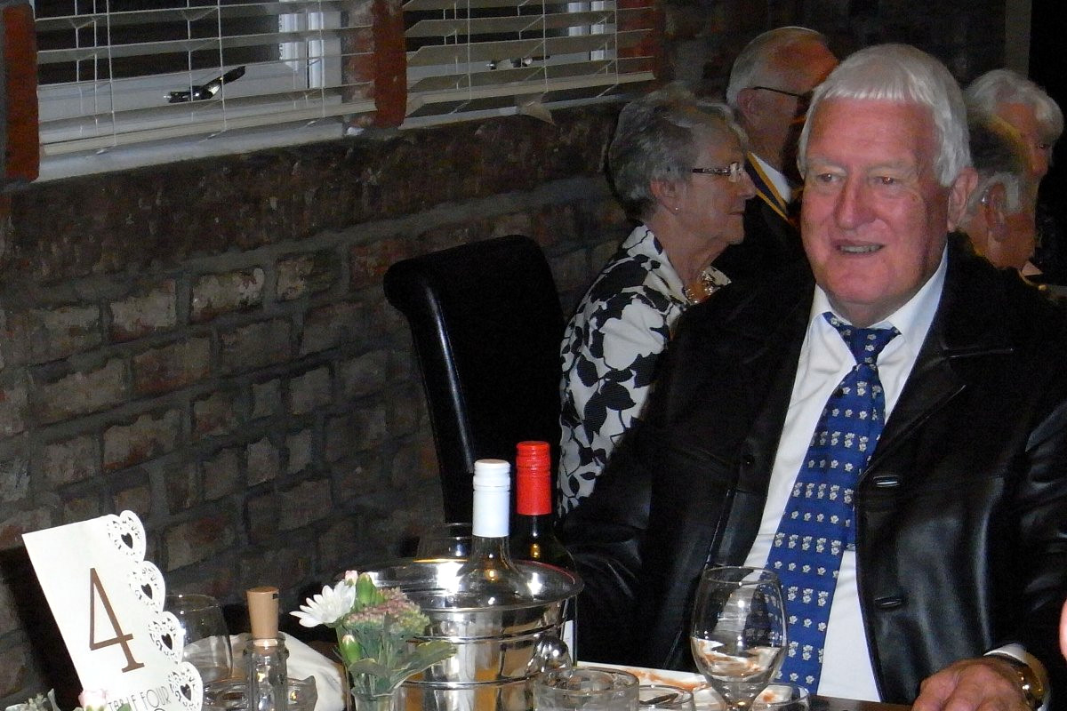Millom Club Charter Dinner 2017 - David is enjoying himself