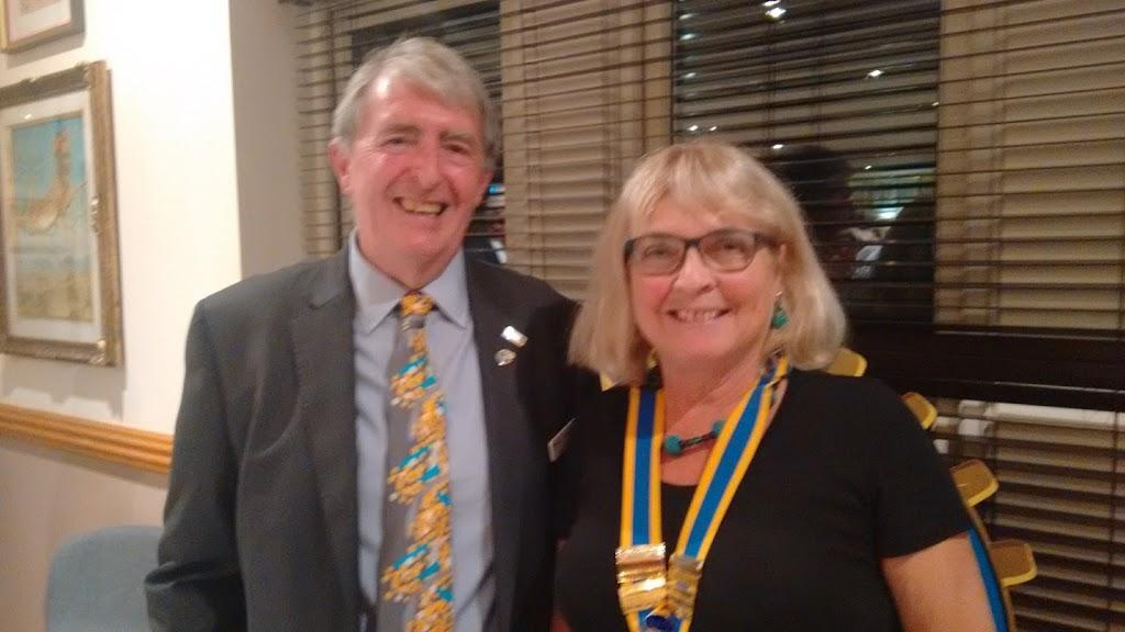 2017/18 Speakers at M&P - Dis Gov James Onions with President Hazel Morley