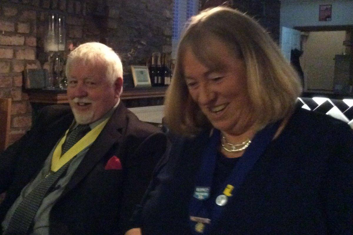 Millom Club Charter Dinner 2017 - Mary Bradley and Tony