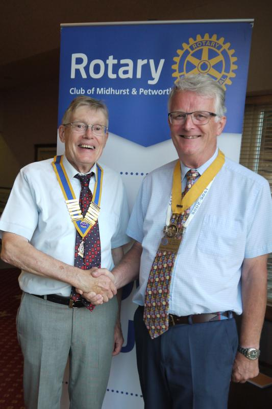 2018/19 News From M&P - President Richard Hill welcomes President Elect Peter Nightingale