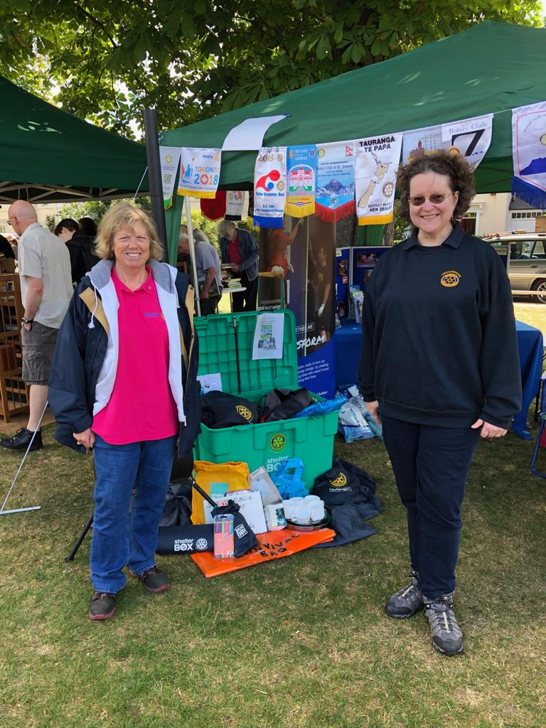 TuT at Hands Fair  - Eva, President of Twickenham RC helped with setting up the PR stand and gave plenty of support during the day too. Thanks Eva!