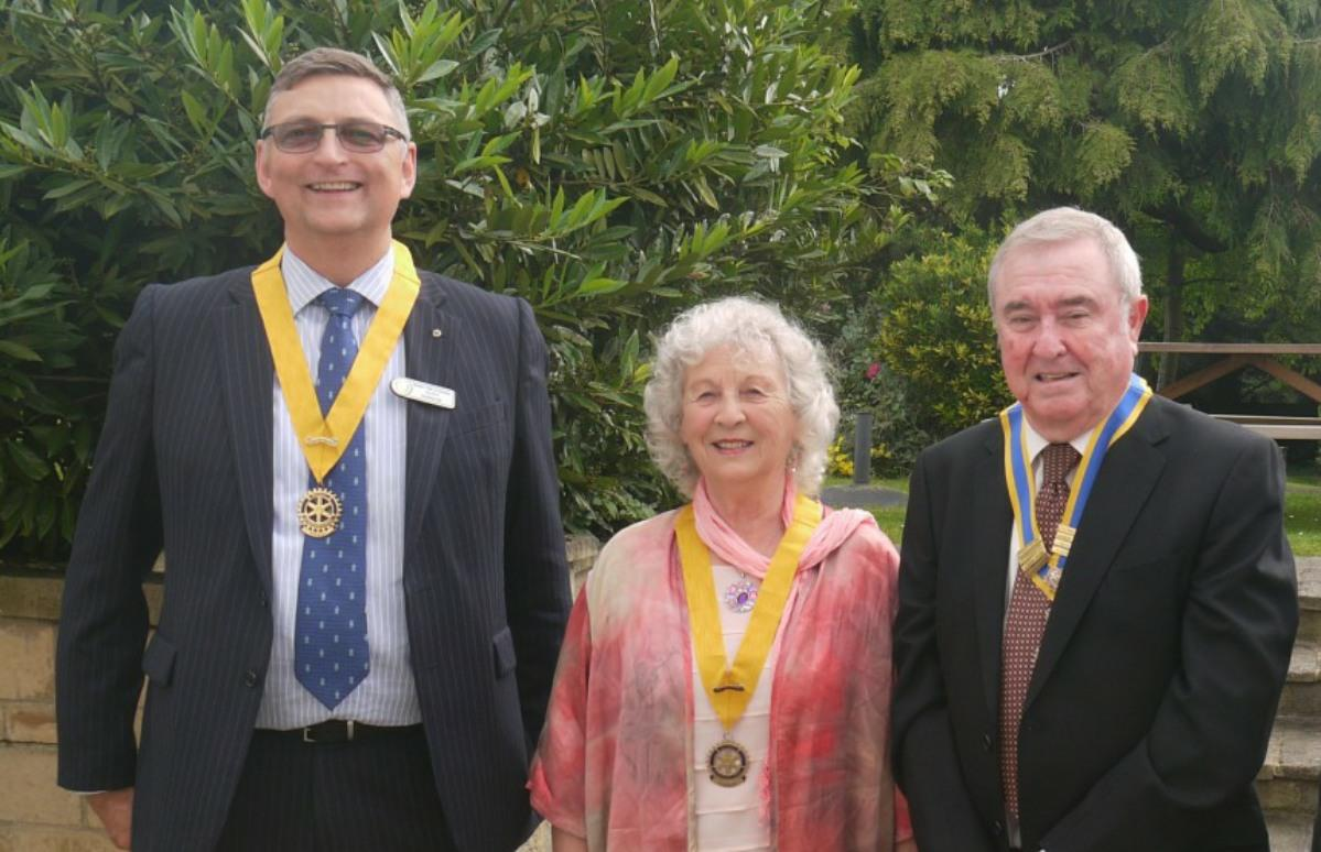 Handover at the Prince of Wales  - President David Story, Pres. Elect Myrtle Moreton-Cox, Pres Nominee Alan Harker