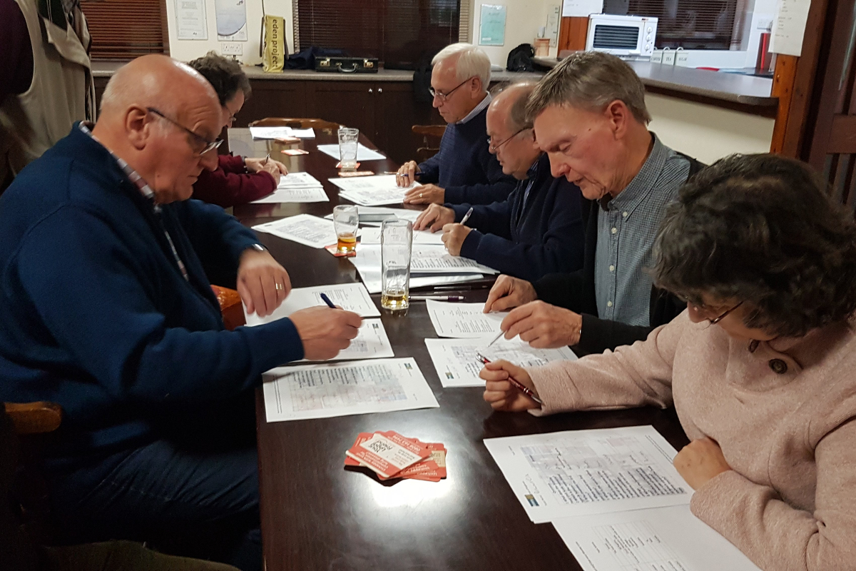 Annual charity quiz - 2019-Markers in deep concentration-1200x800