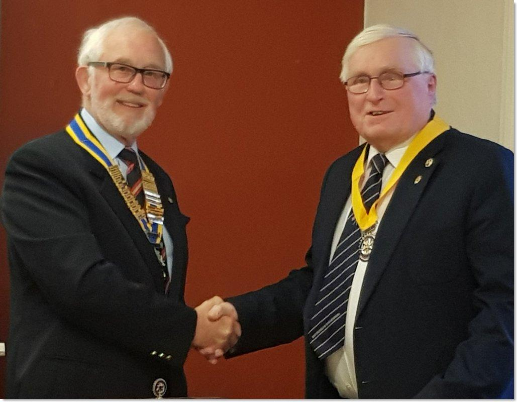 New President and President Elect installed for 2019/20 - President Brian Eyre and President Elect Brian Price