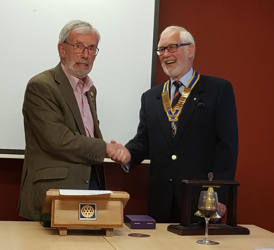 New President and President Elect installed for 2019/20 -