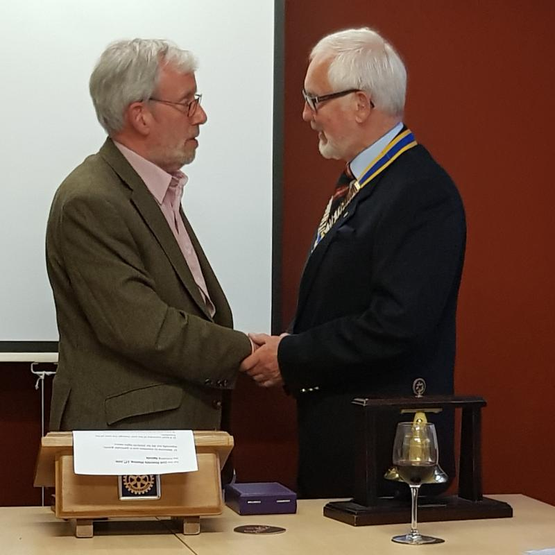 New President and President Elect installed for 2019/20 - 20190618 091439