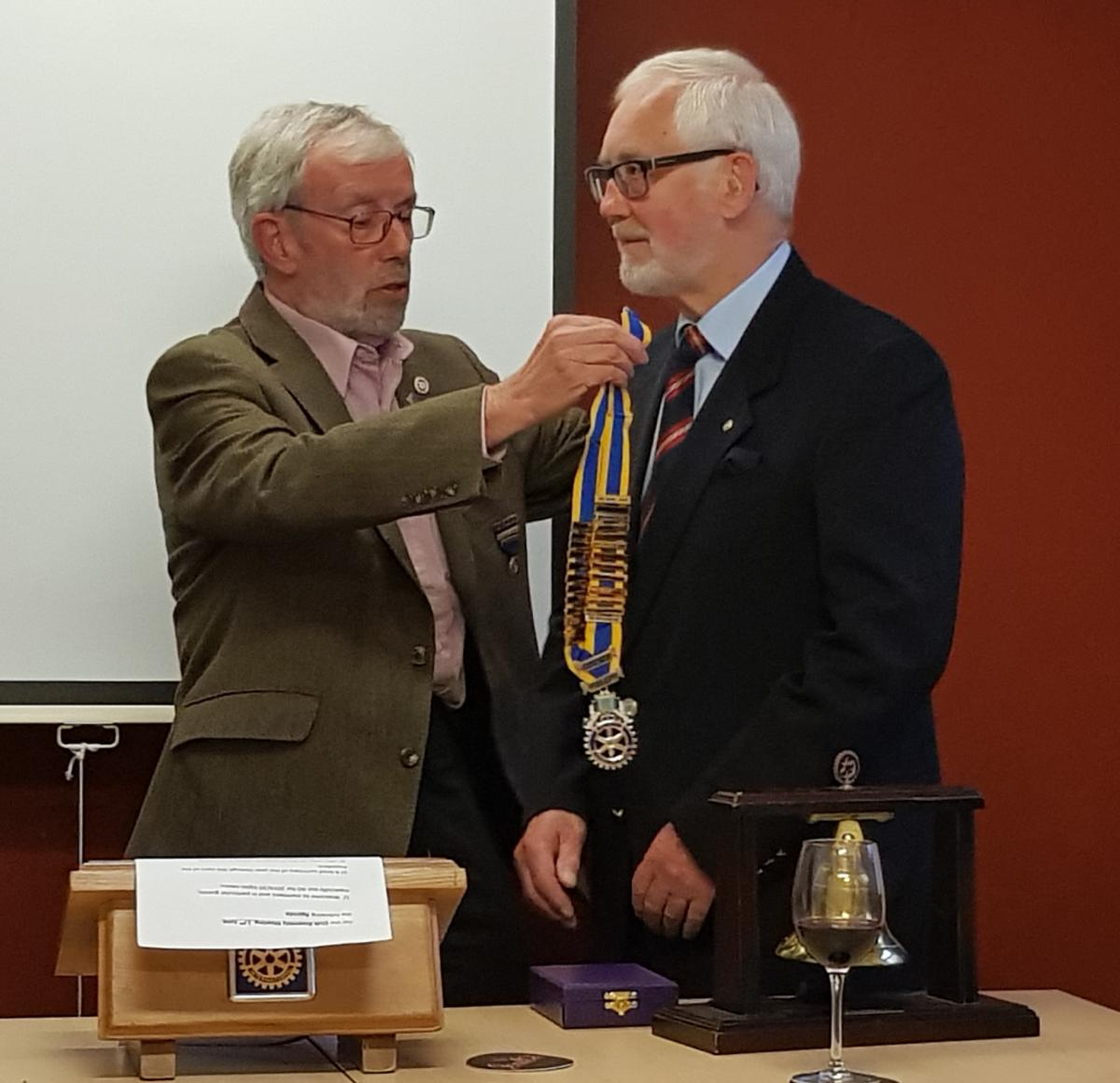 New President and President Elect installed for 2019/20 - 20190618 091626