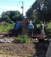 The Rotary Allotment takes shape - Work starts on the shed