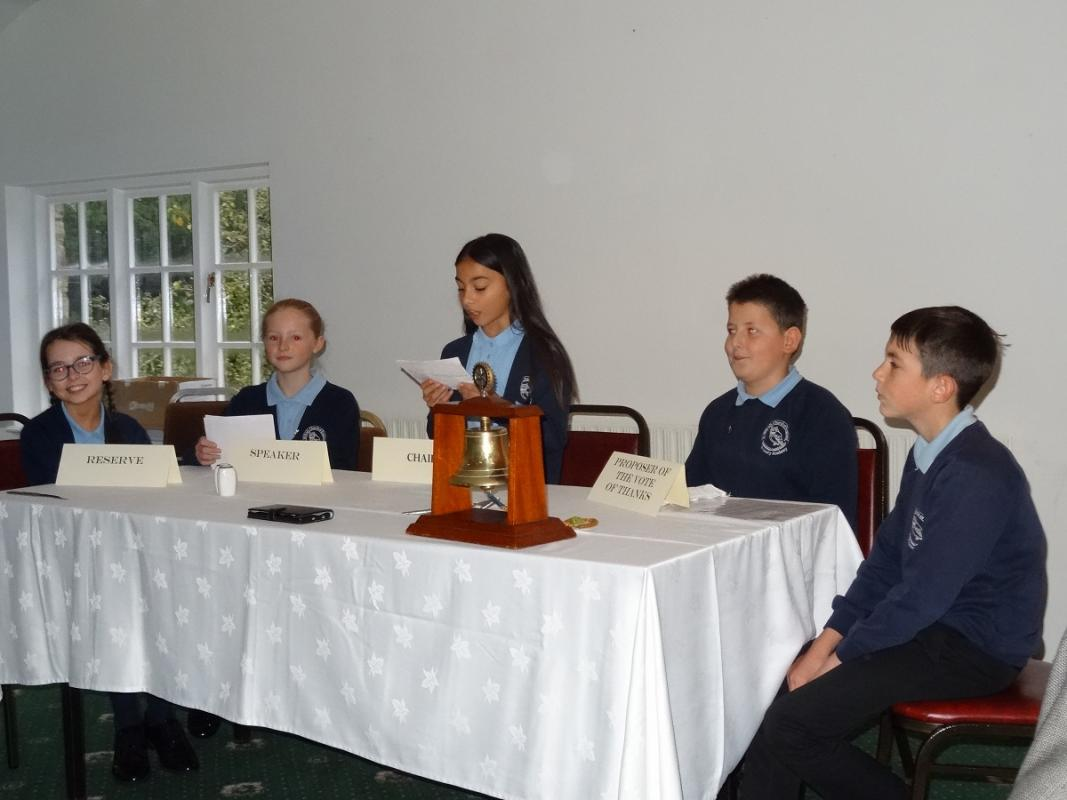 Junior Speaks winners eat out - The winners speaking to Rotary
