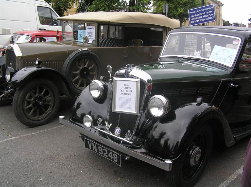 Chipping Norton Car Day - A Humber 14 and a Morris 10.