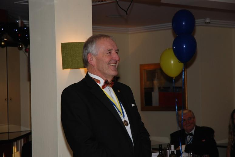 CHARTER DINNER 2015 - Ian Parr, son of Stanley Parr.  Ian presented his father's trophy.