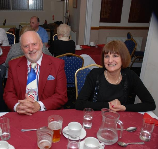 BURNS NIGHT - 2016 - Is Colette smiling at John's special tie celebrating Singleton.