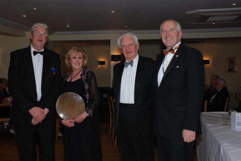 CHARTER DINNER 2015 - Ron Greenhough and Ian Parr with Eric & Ann, the most worthy winners of the Stanley Parr Trophy