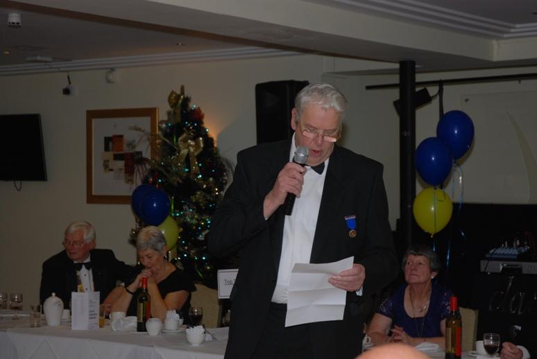 CHARTER DINNER 2015 - Ron Greenhough announces the winners of the prestigious Stanley Parr Trophy.