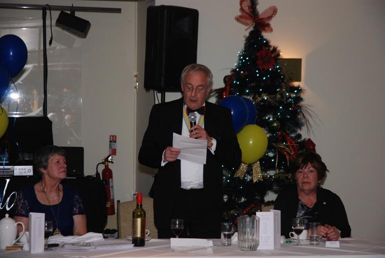 CHARTER DINNER 2015 - Assistant District Governor Cyril Wildon responds to the toast to Rotary and proposes the toast to Blackpool South Rotary Club.