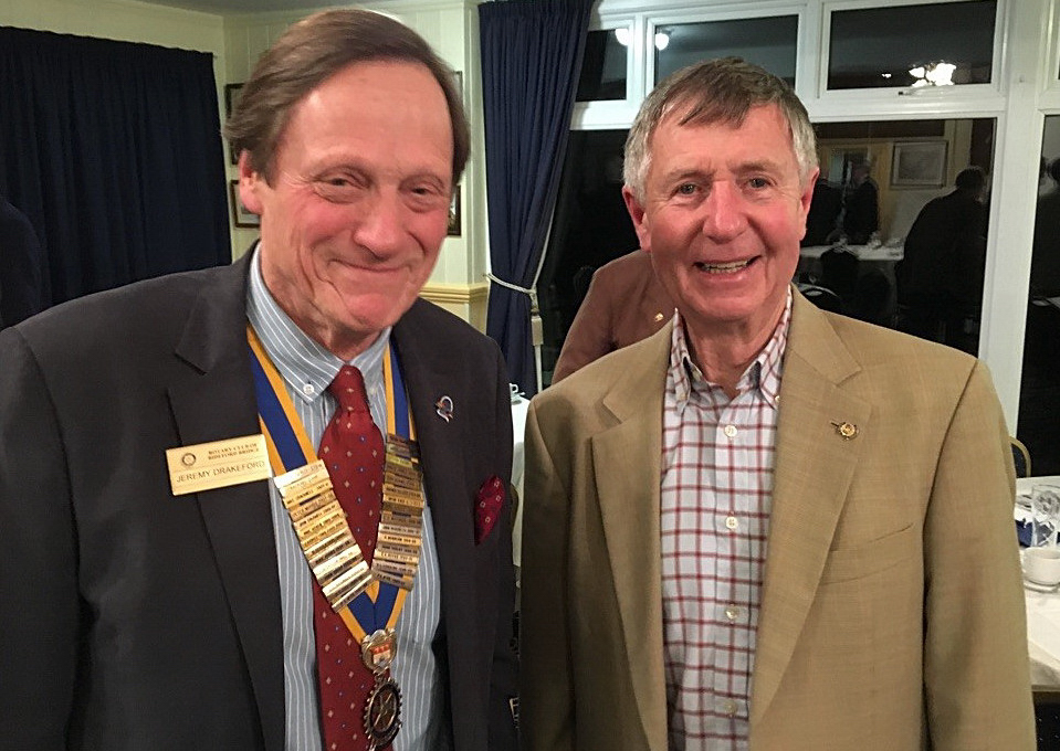 2015-16 Rotary Year - David Ogle returned to an earlier talk but this time, very successfully with slides!