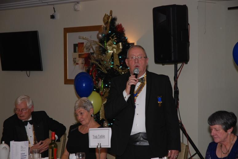 CHARTER DINNER 2015 - Blackpool Palatine President Gary Pretty responds on behalf of the Guests.