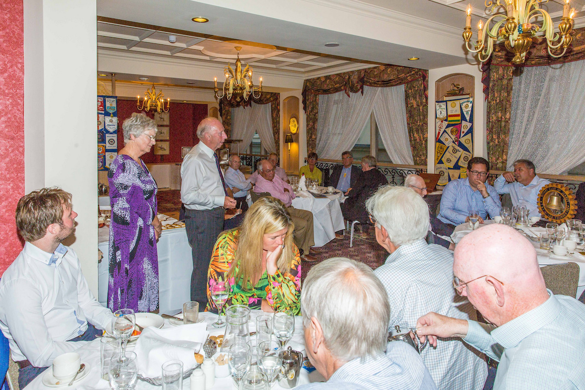 Wednesday 27th of July 2016 - Dave and Betty Ellis address the Rotary Club of Jersey