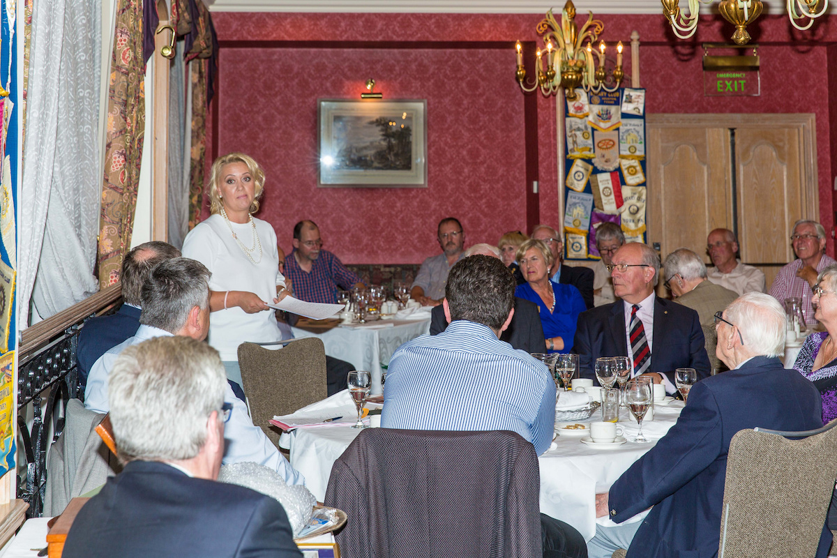Wednesday 27th of July 2016 - Addresses the club and explains her work as the Polish Consul