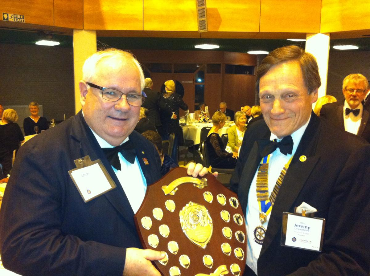 2015-16 Rotary Year - Bideford Bridge RC was awarded the shield for the best Conference attendance.