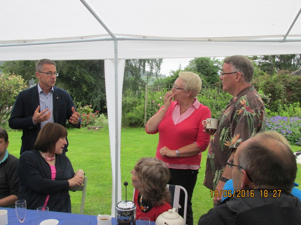 Visit from Odal Rotary Club, Norway - 29 Time for speeches